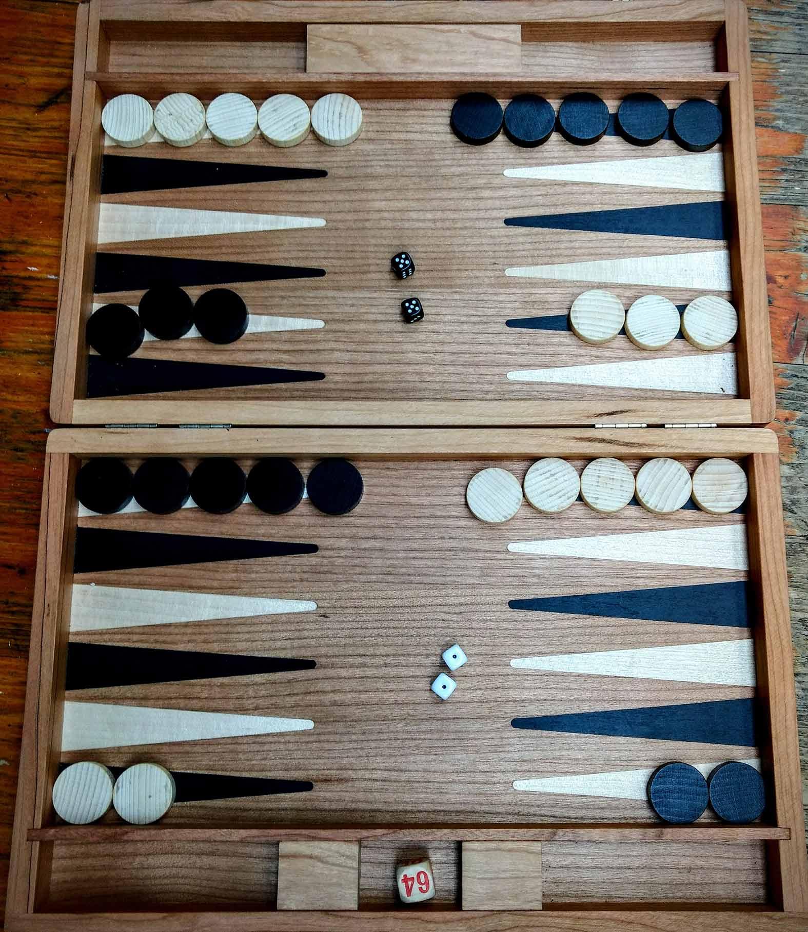 Backgammon-aufstellung